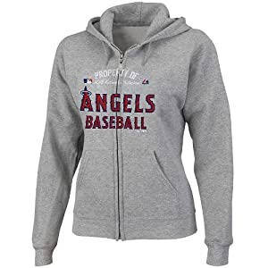 MLB Los Angeles Angels Ladies Property Of Fleece, Steel Heather by Majestic