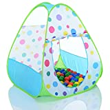 PopUp tienda jugar para niños triangle y 100 bolas para casa y exterior plegable