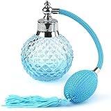 VERY100 Crystal Art Vintage Style Refillable Perfume Atomizer Long Spray Bottle (Blue)(100ml)