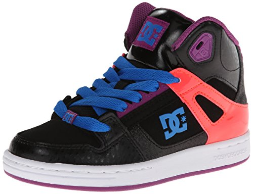 Dc Rebound Skate Shoe (Little Kid/Big Kid),Black/Pink/Black,5 M Us Big Kid front-1036388
