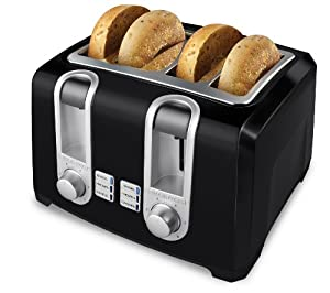 Black & Decker T4569B 4-Slice Toaster, Black