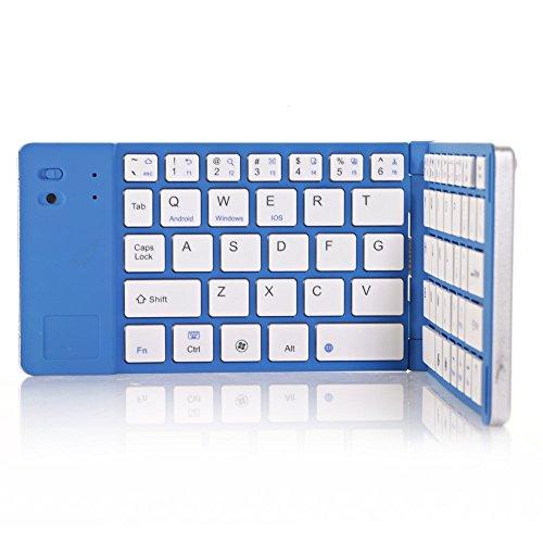 Top® Quality Laptop Mini External Keyboards With Hard Abs Plastic Key, Foldable Keyboards Wireless, Bluetooth Wireless Keyboard For Ipad, Tab3, Note Iii/3, Galaxy Note Ii/2, Galaxy S3, S4, Iphone, Ipad 5, Ipad Bluetooth Keyboard With Bluetooth V3.0, More