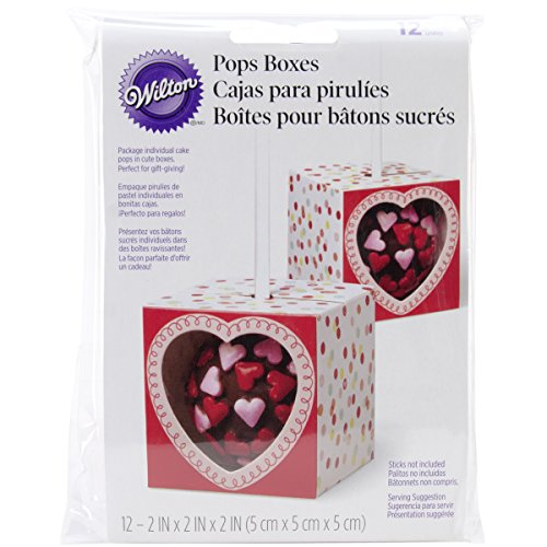 Wilton 415-0577 12-Pack Valentine Single Pops Gift/Cake Box
