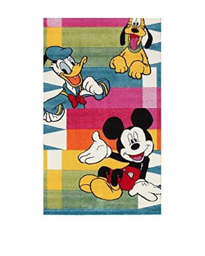 Disney Alfombra Disney Premium Mickey Pencils Morado/Verde/Multicolor 133 x 190 cm