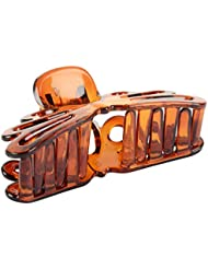 Jasmine Fashion Accessories Brown Plastic Hair Clip For Women (A-25)