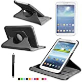 360 Degree Rotating Cover Case for Samsung Galaxy Tab 3 7.0 SM-T210R With Screen Protector and Stylus Galaxy tab 3 7 case From Sheath ™ [ Do not Fit Galaxy Tab 3 Lite SM-T110 ]