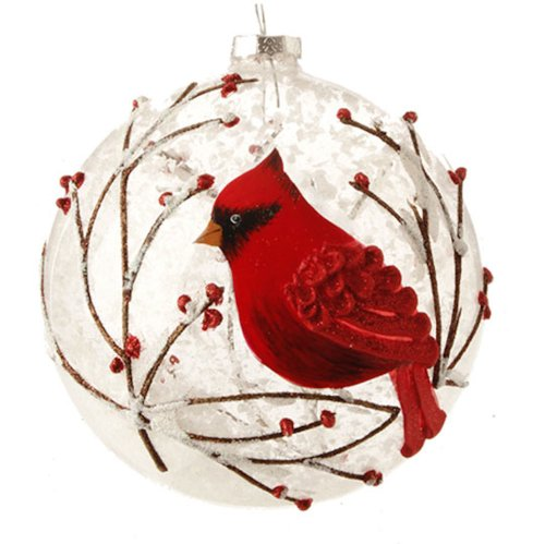 Christmas Decorations Red Birds : Cardinal christmas ornaments