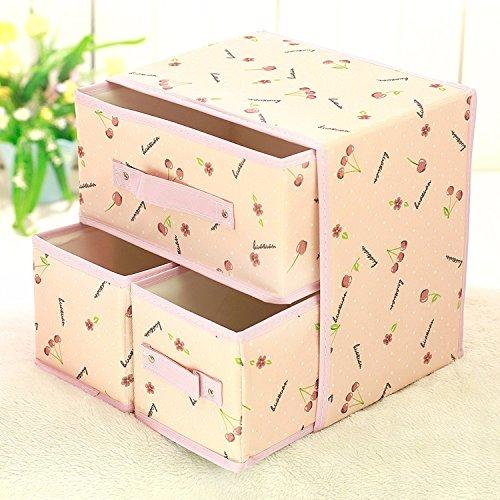 Lavabile, Oxford tessuto intimo reggiseno cassetto calze intimo pieghevole ammettere cartuccia chassis desktop ,30*22*30cm,c organizzare ammettere