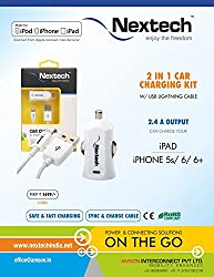 Nextech Lightning Cable with Car Charger 2.4A -USB6i
