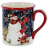 Bird in Hand Snowman Mug