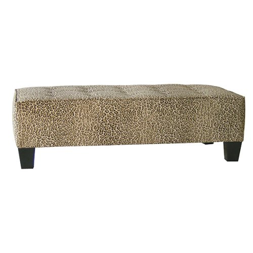 Cheap Ottomans And Footstools Rating Review 15 Button Tufted Microsuede Bench Leopard