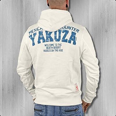 Yakuza Premium Männer Kapuzenpullover Snitches YPH 1722 weiss - ! locker geschnitten !
