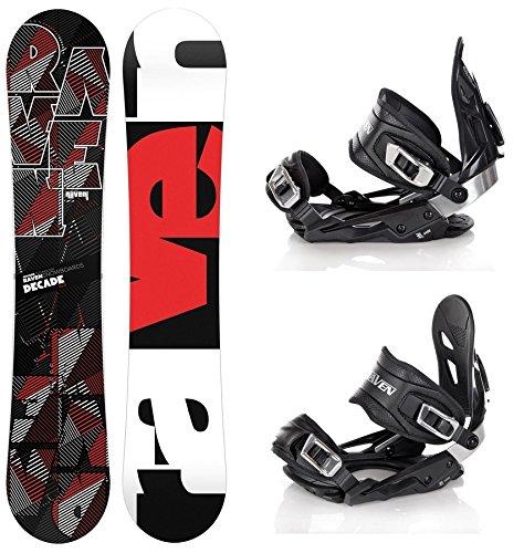 Snowboard Set: Snowboard Raven Decade Carbon + Bindung Raven s400 Black M/L