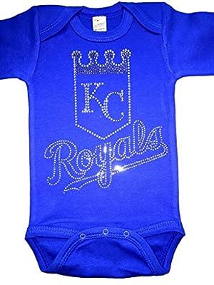 FanGarb Infant/Toddler/Baby Crystal Rhinestone Kansas City Royals Bodysuit