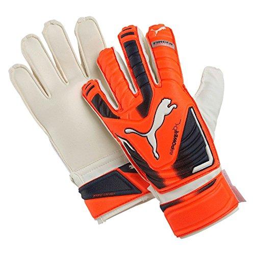 Puma Evopower Protect 3 Junior Guanti Calcio, Unisex bambino, Arancione (Lava Blast/Total Eclipse/White), Taglia 4