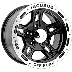 Incubus Off-Road 17x9 Black Wheel / Rim 5x5 with a -12mm Offset and a 83.70 Hub Bore. Partnumber 511790550-12GBLM