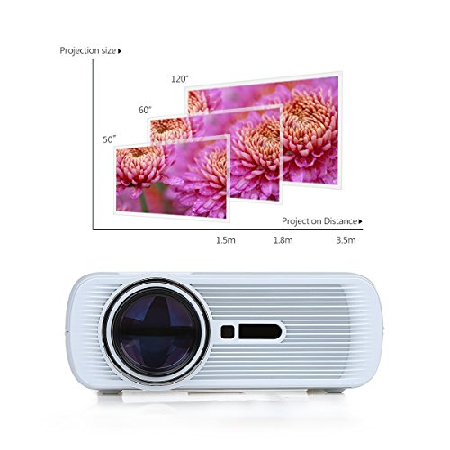 Mini projector discoball mini projector 1200 lumens 800 for Mini projector for ipad best buy