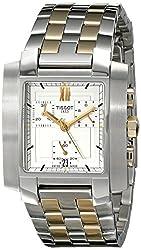 Tissot Mens T60258733 Two-Tone TXL Chronograph Two-Tone White Dial Watch