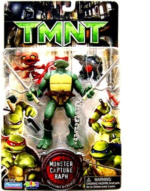 Buy Low Price Playmates Teenage Mutant Ninja Turtles TMNT Movie Action Figure Set – Monster Capture Raph with Raphael and Jersey Devil Figure Plus Weapons and Accessories (B001IB2WCE)