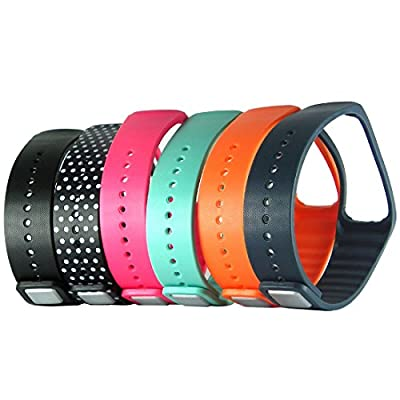 HopCentury Replacement Wrist Band Strap Wristband with Metal Clasp for Samsung Galaxy Gear Fit Bracelet Smart Watch - 6 Pack