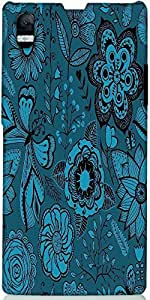 Snoogg Abstract Floral Background Designer Protective Back Case Cover For Son...
