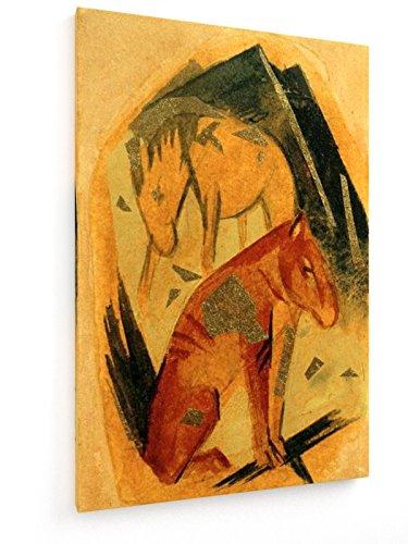 franz-marc-dos-caballos-delante-de-la-montana-azul-60x90-cm-weewado-impresiones-sobre-lienzo-muro-de