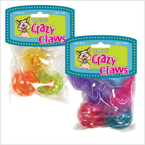 Sergeant'S Crazy Claws Ball Toy For Kittens & Cats front-10831