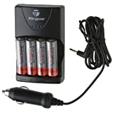 Targus TG-CH5000 AC/DC Rapid Charger with 4 - 2700 mAh AA Batteries