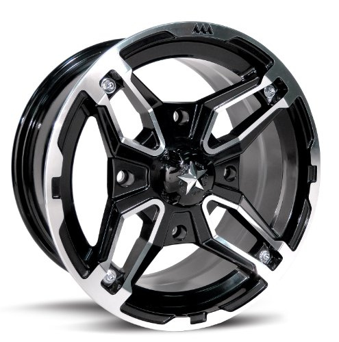 MotoSport Alloys M15 Crusher Black Machined 14x7