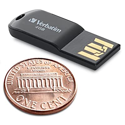 Verbatim 4 GB Micro USB Flash Drive, Black 44048