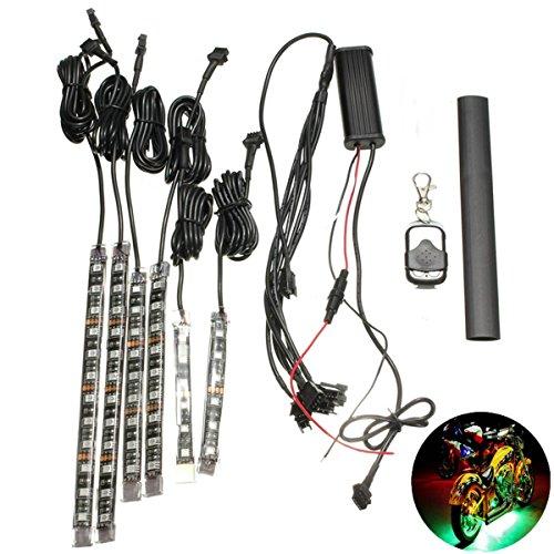 AUDEW Universale 6pc 15color Auto Moto ATV Striscia Flessibile Lampada della Luce LED NEON Kit