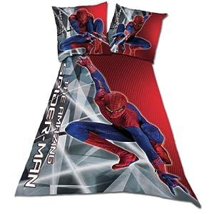 parure de lit the amazing spiderman housse de couette 140. Black Bedroom Furniture Sets. Home Design Ideas
