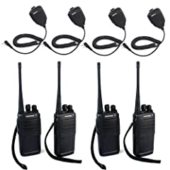 Baofeng BF-388A Walkie Talkie UHF 400-470 MHz 5W 16CH with Free Earpiece Portable... by BaoFeng