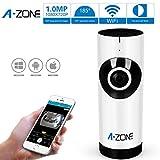 A-ZONE 新しいワイヤレスカメラ ベビーケアモニター WIFI監視カメラ ナイトビジョンビデオ 横と縦 Play & Plug