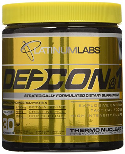 Platinum Labs Defcon 1 2nd Strike Pre-Workout Powder, Pineap