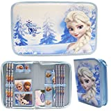 Disney Frozen Light Blue Stationery Set Pack with Case (13 Pcs)