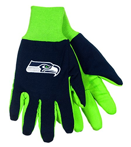 NFL Seattle Seahawks Sport Utility Gloves Navy Blue & Green (Green Bay Packers Quad Chair compare prices)