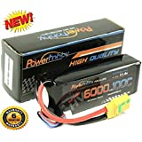 Powerhobby 3S 11.4V High Voltage 6000mAh 100C Lipo Battery Pack w XT90 Plug 3-Cell Fits : Arrma Kraton Nero Tyhpon Senton Tailon OUTCAST FAZON