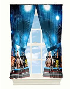 Wwe Curtains Window Panels Arena The Pair Measures 82