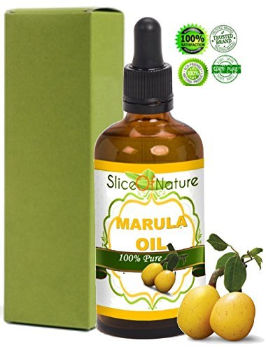 Slice Of Nature Pure Marula Oil Cold Pressed Wild Harvested Marula Oil for Face, Body, Hair - Marula Facial Oil - Marula Oil for Hair Treatment - Maru…