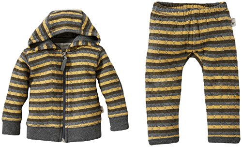 Burt'S Bees Baby Baby Boys' Quilted Hoodie And Pants Set (Baby) - Mustard Seed - 6-9 Months front-918032