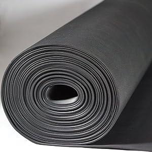 Kabelschutzmatte 0,50 x 10m [Farbe + Größe wählbar] Stärke 3 mm | Kabelmatte | Feinriefenmatte| Farbe SCHWARZ  BaumarktBewertungen und Beschreibung