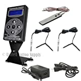 Hurricane HP-2 Black Dual Digital LCD Tattoo Power Supply w/ 2 Clip Cord & Foot Pedal
