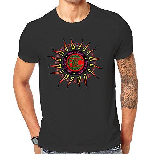"""""""Alice In Chains-Maglietta con Logo-T-Shirt classica da uomo nero Medium"""