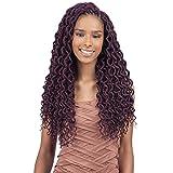 "FreeTress 2X Soft Curly Lite Faux Loc Crochet Synthetic Braiding Hair (18"", 1B)"