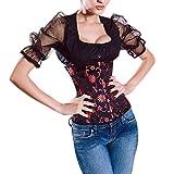 Muka Women Black Underbust Corset Waist Cincher Bustier Halloween Costume
