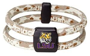 NCAA LSU Tigers Wristband, Camo Desert, Small