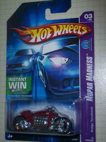 Mopar Madness Series #3 Dodge Tomahawk Red Instant Win Card #2006-63 Collectible Collector Car Mattel Hot Wheels 1:64 Scale