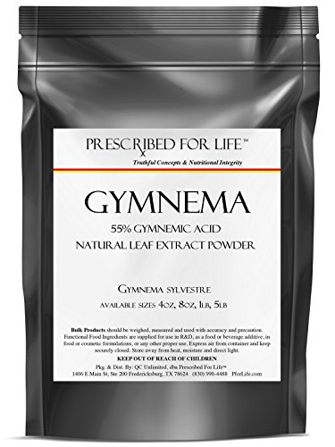 Gymnema - 55% Gymnemic Acid - Natural Leaf Extract Powder (Gymnema sylvestre) 5 lb