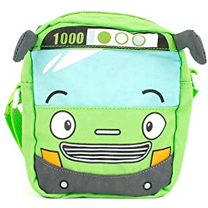 Little Bus Tayo Kids Cross Bag - Rogi (Green)